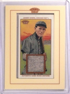 2002 Topps T 206 Mini Relics Johnny Evers game used jersey #TR-JE *73130