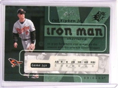 2007 SPX Iron Man Platinum Parallel Cal Ripken Jr. #D 1/1 #IM73 *73144