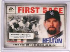 2008 Sp Legendary Cuts memorable Moments Todd Helton #D 1/1 #63 *73154