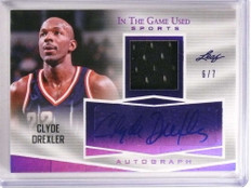 2018 Leaf In The Game Used Sports Clyde Drexler autograph jersey #D6/7 *73265