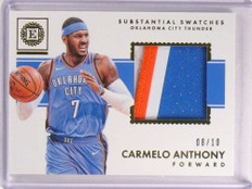 2017-18 Panini Encased Substantial Swatch Carmelo Anthony 3cl patch #D8/10 *73282