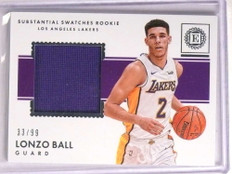 2017-18 Panini Encased Lonzo Ball rookie rc jersey #D33/99 #SR-LBL *73344