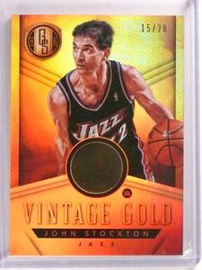 2014-15 Gold Standard Vintage Gold John Stockton #D15/20 #5 JAZZ *73273