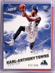 2016 Panini Father's Day Karl-Anthony Towns rc rookie #D151/599 #57 *73331