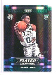 2017-18 Panini Player of the Day holoFoil Jayson Tatum rc rookie #D44/50 *73378