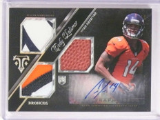 2013 National Treasures NFL Letterman Andy Dalton Game Used Patch #D6/6 *73061