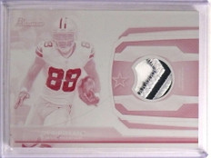 2013 Bowman Dez Bryant 3 color patch whie whale printing plate #D 1/1 *73161