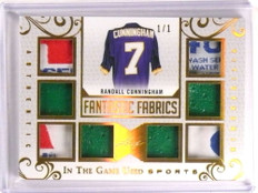 2018 Leaf In The Game Fantastic Randall Cunningham 8x tag patch jersey 1/1 *73263