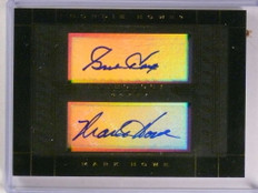 2014-15 Panini Anthology Gordie Howe Mark Howe dual autograph #D24/40 *73071