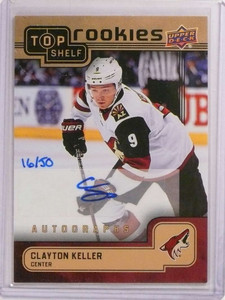 2018 Upper Deck NSCC Top Shelf Clayton Keller autograph auto rc #D16/50 *73084