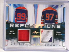 2018 Leaf In The Game Used Wayne Gretzky Connor Mcdavid patch #D2/2 *73261