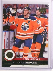 2017-18 Upper Deck UD Exclusives Connor Mcdavid #D34/100 #320 Oilers *73149