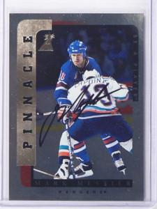 96-97 Be A Player BAP Silver Mark Messier auto autograph #111 *35620