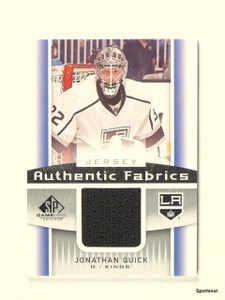 2013-14 SP Game Used Jonathan Quick Authentic Fabrics Jersey *44289
