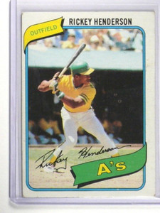 1980 Topps Rick Henderson rc rookie #482 EX *35003