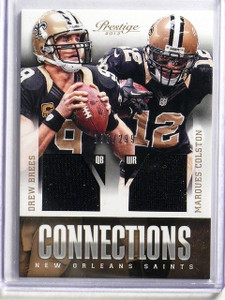 2013 Prestige Connections Drew Brees & Marques Colston jersey #D196/299 *42009