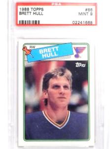 1988-89 Topps Brett Hull rc rookie #66 PSA 9 MINT  *63822