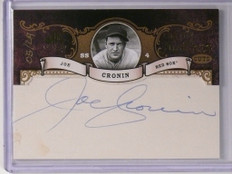 2007 Sp Legendary Cuts Inside Numbers Joe Cronin autograph auto #D05/29 *48707