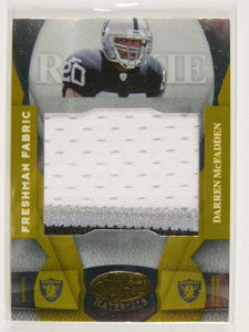 2008 Leaf Certified Mirror Gold Darren Mcfadden rc jumbo patch #D14/25 #209 *307