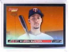 2015 Bowman's Best High Def Heritage Byron Buxton Orange Refractor #D07/25 *5441