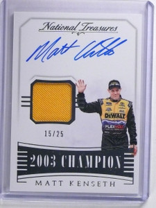 2016 National Treasures Championship Matt Kenseth Autograph #D15/25 #CSTMK *6411