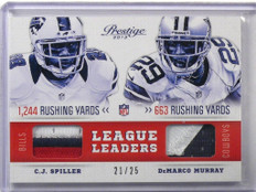 2013 Prestige League Leaders C.J. Spiller & Demarco Murray 3clr patch #D21/25 *4