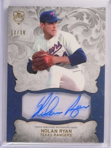 2015 Topps Supreme Styling Clear Nolan Ryan autograph auto #D12/30 *50505