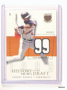 2004 Skybox Limited LE History Of The Draft Albert Pujols Jersye #d59/99 *44262