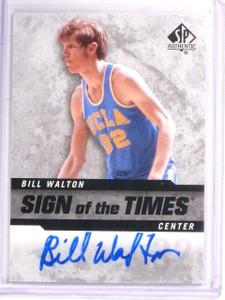 2014-15 SP Authentic Bill Walton Sign Of The Times Autograph Auto #SOTBW *54421