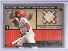 2002 Fleer Showcase Baseball's Best Albert Pujols Base *65052