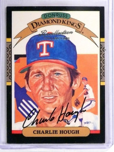 2004 Donruss Timelines Recollection Collection Autograph Charlie Hough /81 *5813
