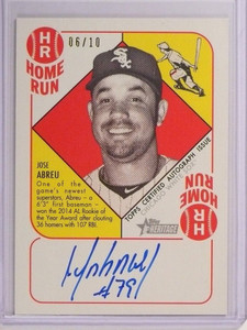 2015 Topps Heritage 51 Collection Green Jose Abreu autograph auto #D06/10 *50513
