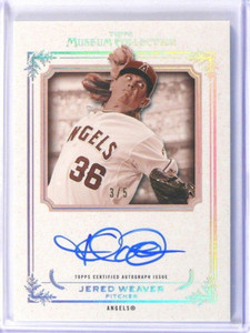 2013 Topps Museum Collection Jered Weaver auto autograph #D3/5 *39979