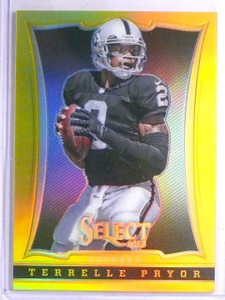 2013 Panini Select Prizms Gold Refractor Terrelle Pryor #D06/10 #45 *65880