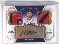 2012 Topps Museum Collection Brian Mccann auto autograph dual patch #D1/5 *34420