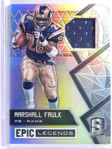 2016 Panini Spectra Epic Legends Marshall Faulk Jersey #D10/49 #5 *65867