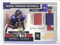 2003 Playoff Absolute RPM Terrell Suggs Lace Ball jersey rc #D15/25 *41026
