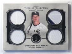2013 Topps Museum Collection Gordon Beckham quad patch jersey #D3/5 *40014