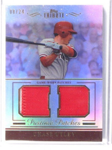 2011 Topps Tribute Pastime Patches Chase Utley dual patch #D08/24 *38776