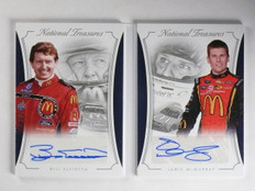 2016 National Treasures Jamie McMurray Bill Elliott Dual Autograph #D05/15 *6519