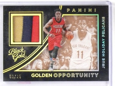 2015-16 Panini Black Gold Jrue Holiday Opportunity Jersey Patch #D03/25 #22 *565