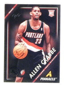 2013-14 Panini Pinnacle Allen Crabbe 1/1 Rookie RC Artist's Proof Black #2 *5661