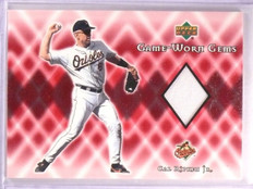 2002 Upper Deck Cal Ripken Jr. Game Worn Gems Jersey #GCR *55490
