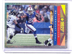 2013 Score Fred Jackson Artist's Proof 1/1 Bills Masterpieces *44392
