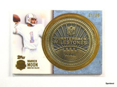 2012 Topps QB Immortals Milestones Coin Warren Moon #D21/25 *43792