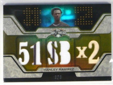 2008 Topps Triple Threads Hanley Ramirez jersey bat #D8/9 *32011