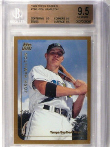 1999 Topps Traded Josh Hamilton rc rookie #T66 BGS 9.5 GEM MINT *36285
