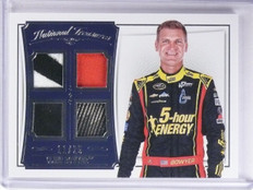 2016 National Treasures Clint Bowyer Quad Patch Tire Firesuit #D11/25 #QMCB *653