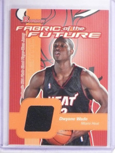 2003-04 Bowman Fabric of the Future Dwyane Wade Rookie Jersey #FFDW *64567