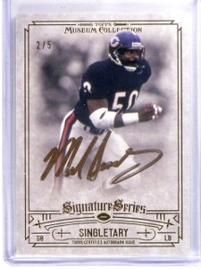 2014 Topps Museum Signature Series Mike Singletary autograph auto #D2/5 *57367